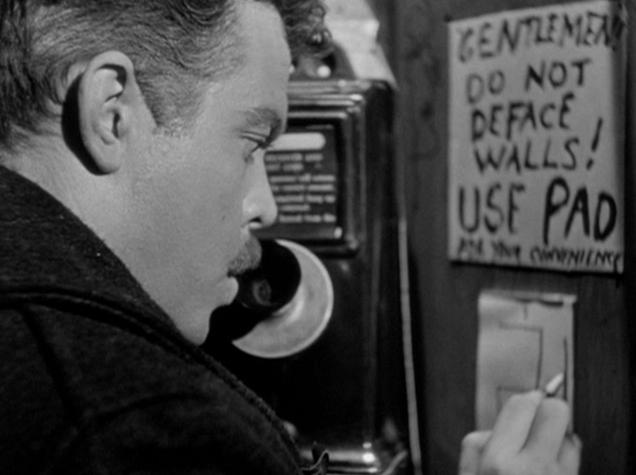 El extranjero con Orson Welles